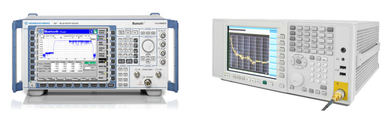 RF Test Equipment used for Testing Bluetooth Low Energy